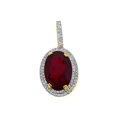 oval gem pendant 10k gold 31cttw diamonds 10k gold