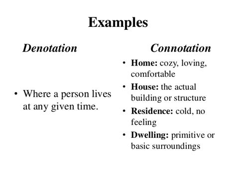 connotation examples alisen berde