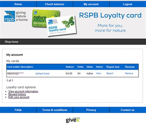 Buy Gift Cards With Checking Account - check your loyalty points balance rspb shop