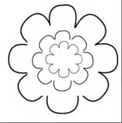 flower cut out template flower cut out template clipart best