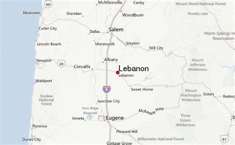 map of oregon lebanon lebanon oregon location guide