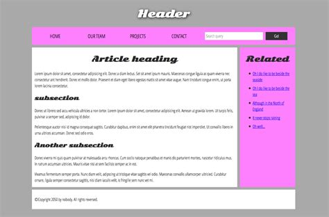what is the head section of a web page the homepage content exles intranet exles create a