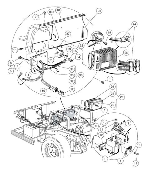 club cart parts diagram yamaha g29 wiring diagram electrical schematic