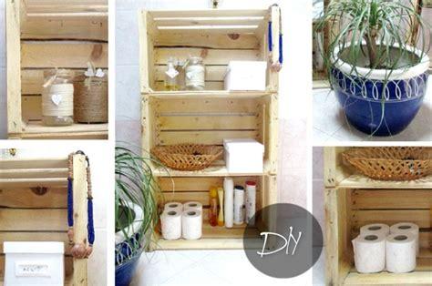 creare con le cassette della frutta armadietto per il bagno con il riciclo il tutorial con le