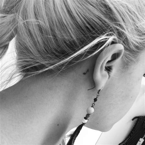 music note tattoo behind ear simple the ear and the o jays on