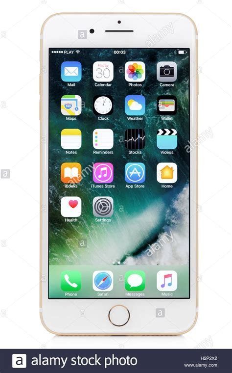 wallpaper iphone 7 white golden iphone 7 plus on white background stock photo