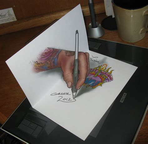 How To Make A 3d Drawing On Paper - how to do 3d anamorphic artwork and sidewalk and