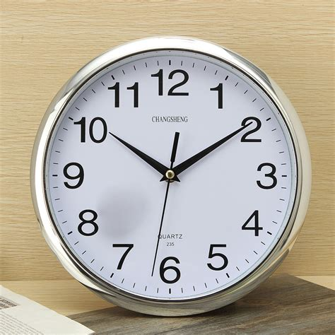 wall clock for bedroom large vintage round modern home bedroom retro time kitchen