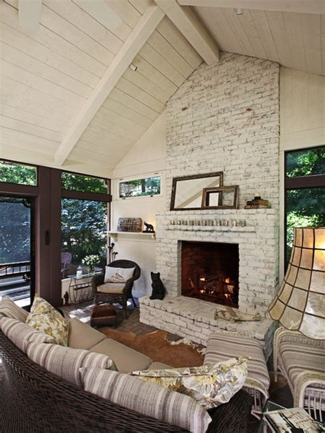 distressed brick fireplace ideas pictures remodel  decor