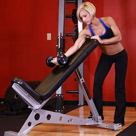 standing incline bench standing one arm dumbbell curl over incline bench exercise