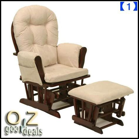 rocking chair with ottoman ebay wooden baby relaxation rocking chair with