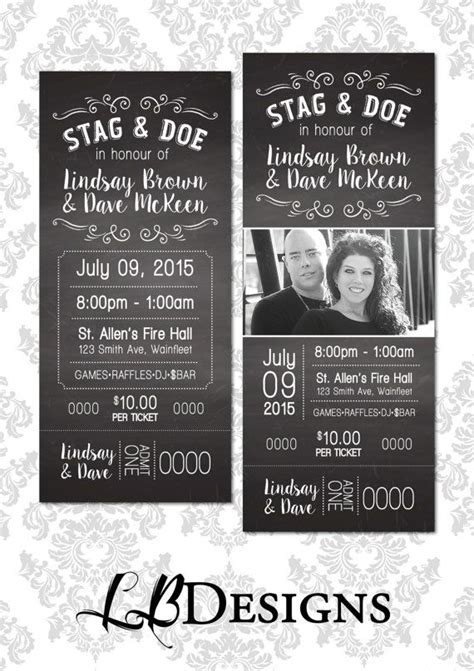 stag tickets template best 25 stag and doe ideas on stag and doe