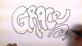 how to draw your name cool letters grace in graffiti letters mlt youtube