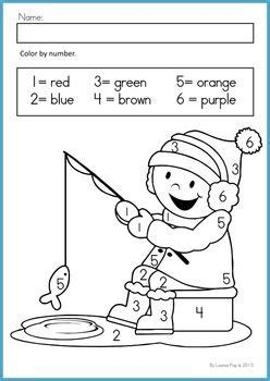 january coloring pages for kindergarten winter math worksheets activities no prep color by