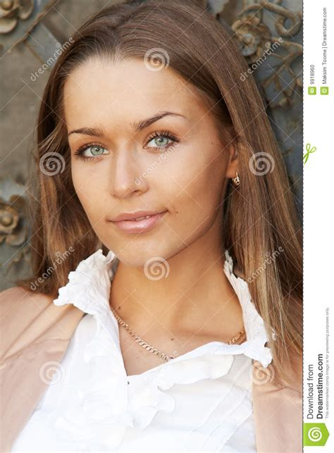 beautiful lady portrait of a young beautiful lady stock photo image