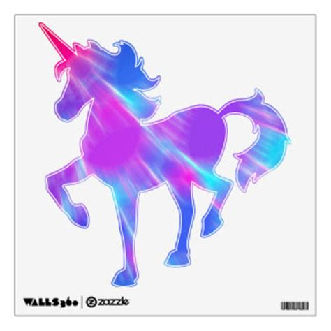 Teal Wall Art Stickers unicorn wall decals amp wall stickers zazzle