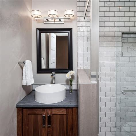 neutral small modern guest bathroom hgtv