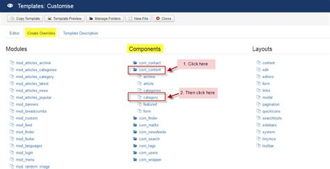 joomla category blog layout override how to create a joomla category list with images