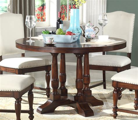 charlotte classic   pedestal dining table  rich