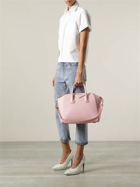 Givenchy Antigona Semprem givenchy antigona small tote bag in pink lyst