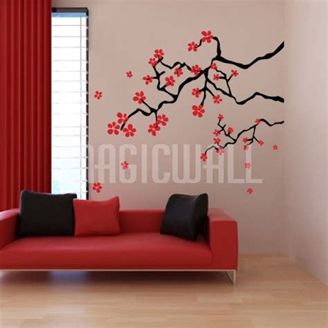 japanese wall sticker wall decals japanese cherry blossom branches