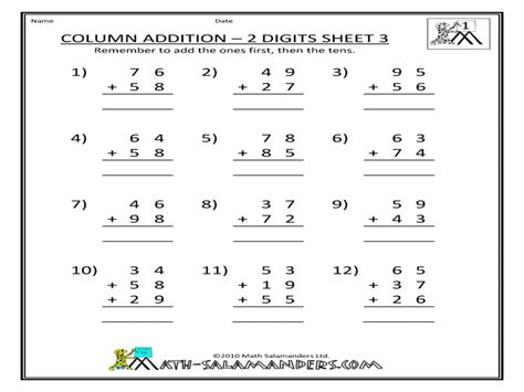new year addition worksheet column addition worksheets year 4 3 digit addition