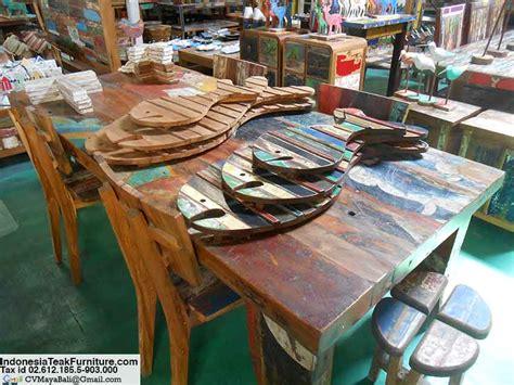 bali boat furniture boat wood furniture table bali
