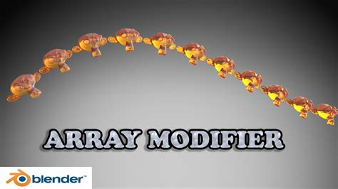 blender tutorial array modifier blender tutorial how to use array modifier youtube