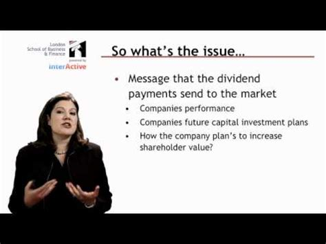 Global Mba Lsbf by Lsbf Global Mba Introduction To Dividend Policy