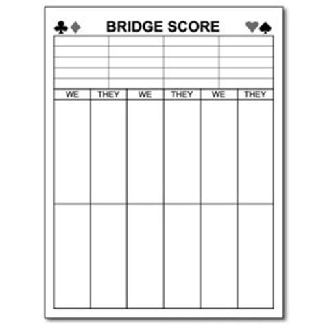 bridge score sheet template printable bridge score sheets pat s board