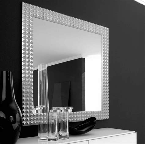 silver squares framed mirror 32x66 in living room square mirror with silver steel frame placed on the black