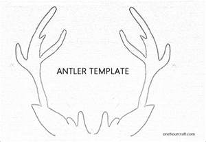 Reindeer Antlers Template by Best Photos Of Reindeer Antlers Coloring Pages Free
