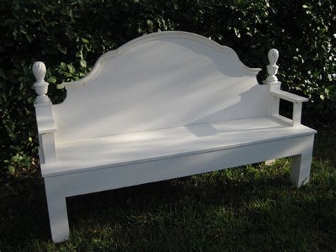 cottage style bench headboard bench bedpost headboard creations