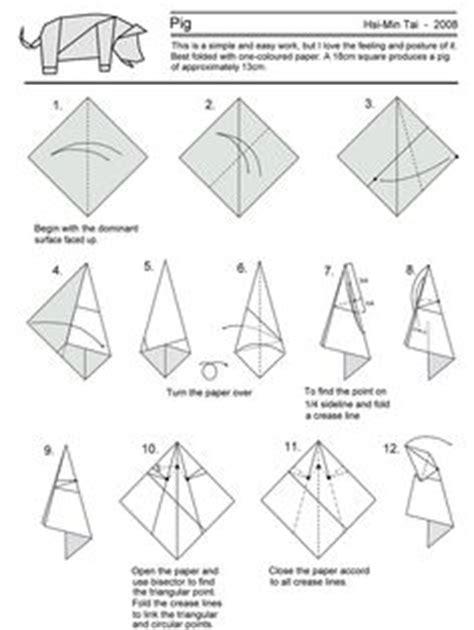 Easy Origami Pig - origami varkentje uitleg zoeken origami