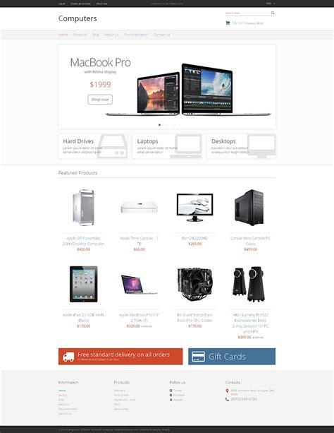 wordpress themes computer store computer store responsive shopify theme 49047