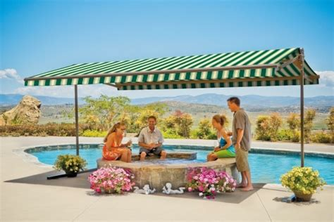 oasis awning freestanding oasis awning sunsetter awnings by lanier