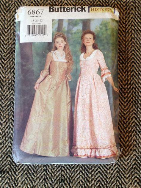 dress pattern history vintage butterick history sewing pattern 6867 1800 s