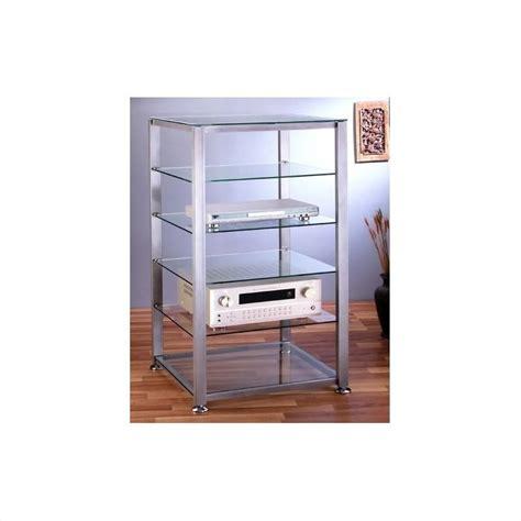 Audio Cabinet Rack by Egr406 6 Shelf Silver Glass Audio Cabinet Rack Egr406x