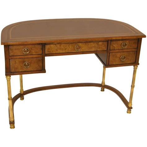 Sligh Desk Burled Walnut And Brass Ladies Writing Desk By Sligh For