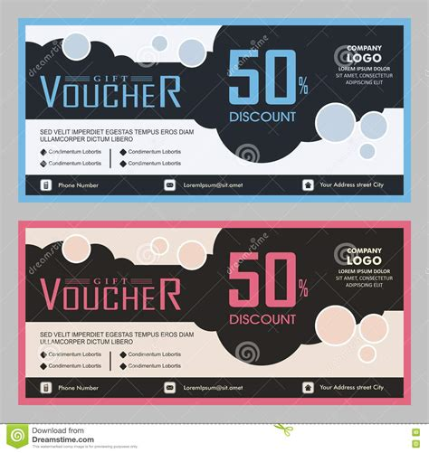 gift card size template stock image modern gift voucher coupon template design