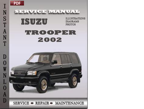 isuzu trooper 2002 factory service repair manual download downloa