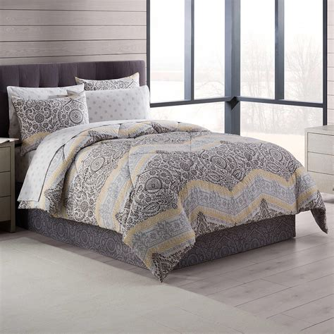 Neville Comforter Set In Grey Yellow From Bed Bath Beyond Bed Bath Beyond Comforter Sets