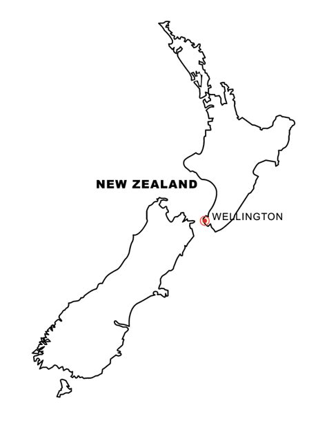 Map Of New Zealand Colouring Pages sketch template