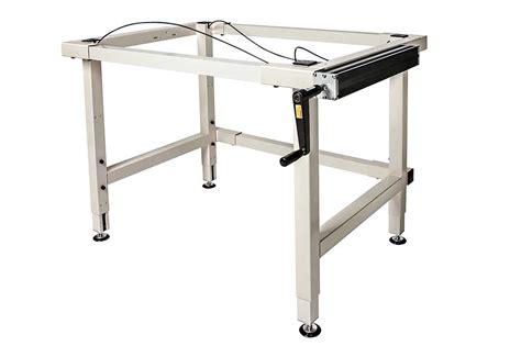 adjustable height work table 4 leg crank adjustable height work table ergosource