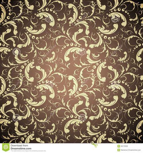 wallpaper elegant design elegant golden seamless pattern stock vector image 36173323
