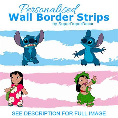 Wallpaper Stitch Border Stitch Wallborder Stitch 1 lilo and stitch border superduperdecor