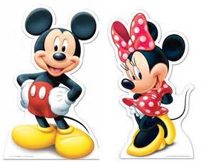 Decorate Your Own Home Lifesize Cardboard Cutout Of Mickey Mouse And Minnie Mouse