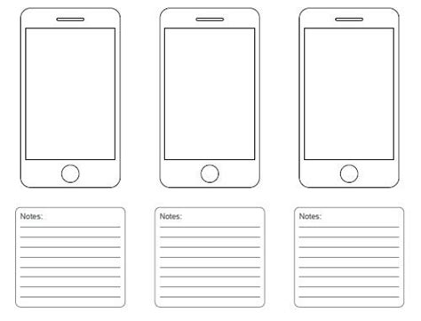 Free Printable Sketching Wireframing And Note Taking Pdf Templates Wireframe Printable Paper Sketch Wireframe Template