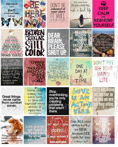 printable stickers quotes anxiety motivational quotes sticker sheet printable