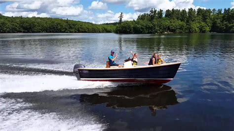 little skiff boat works nantucket skiff 17 nantucket boat works youtube